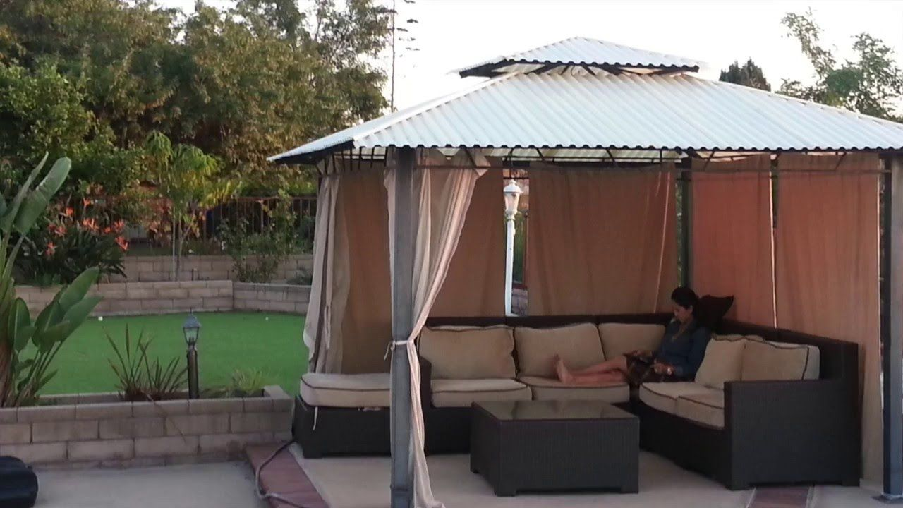 Patio Hard Top Conversion From Canvas Gazebo Roof Diy Gazebo Gazebo On Deck