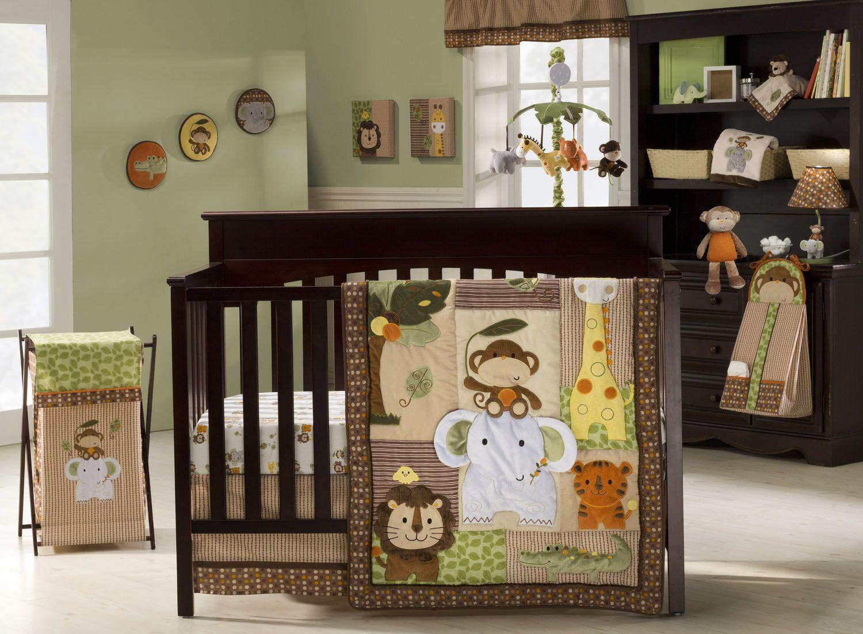 Jungle Walk 9 Piece Crib Bedding By Kidsline Hom Furniture