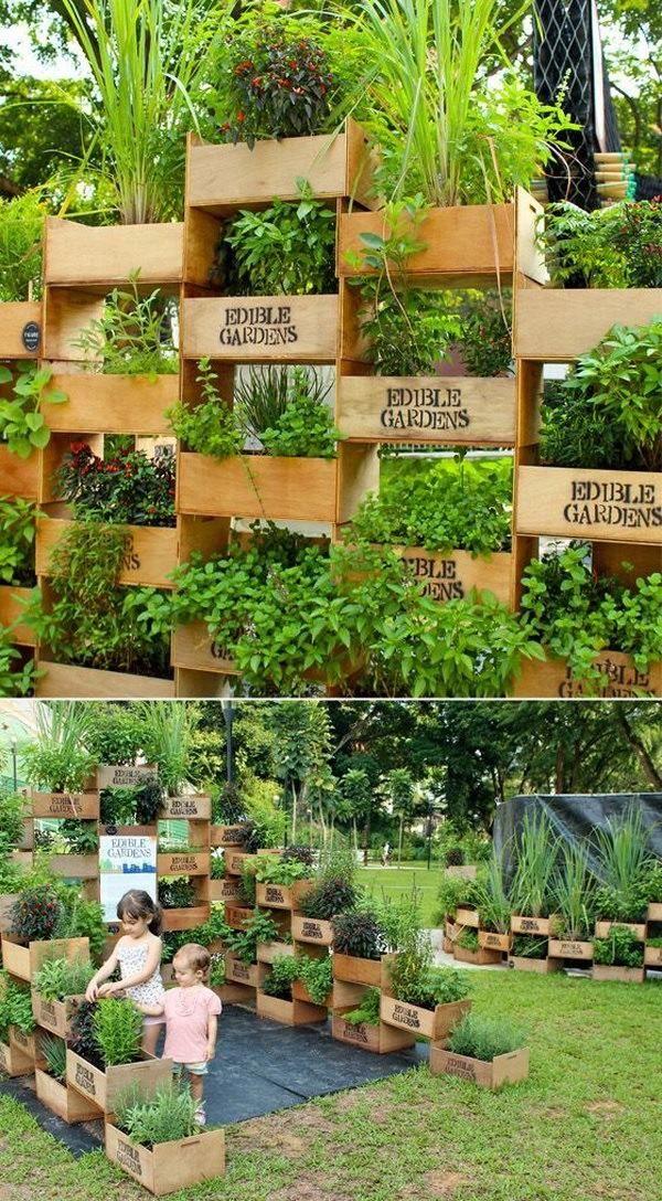 Jardines verticales JARDIN-Flores y huerta Pinterest Jardín - jardineras verticales