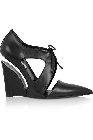 Balenciaga Leather Wedge Pumps low price cheap online cheap footlocker 0LQBT