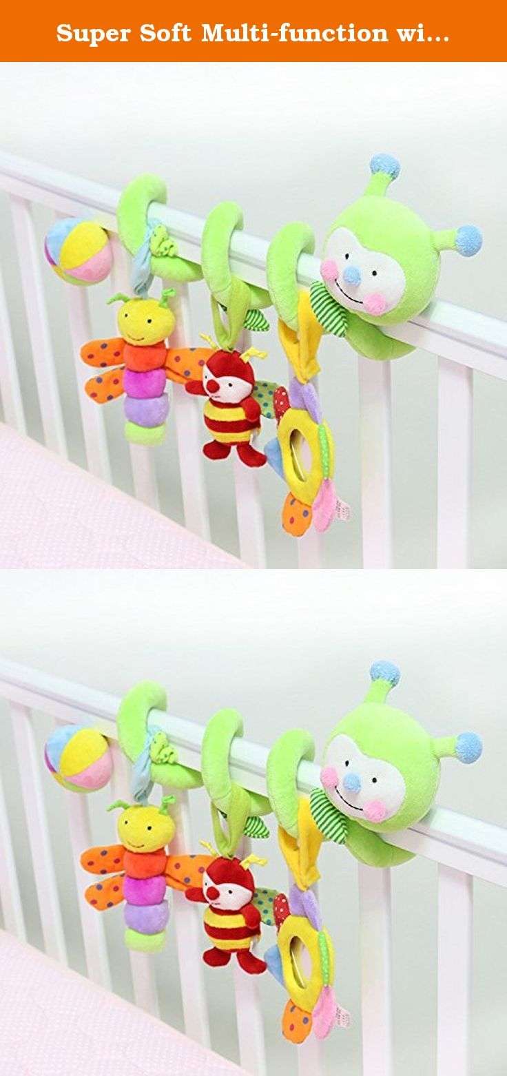 Crib activity toys for babies - Super Soft Multi Function With Music Baby Toys Smile Green Worm Baby Crib Activity Spiral