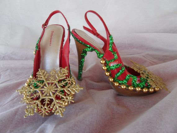 reputable site b46a5 11037 OOh LaLa Sexy Ugly Tacky Christmas Sweater Party Shoes