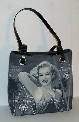Marilyn Monroe Purse With Metal Zipper Tag Branding Mm