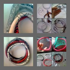Photo tute - Using wire and aluminum foil as a bracelet armature.  #Polymer #Clay #Tutorials