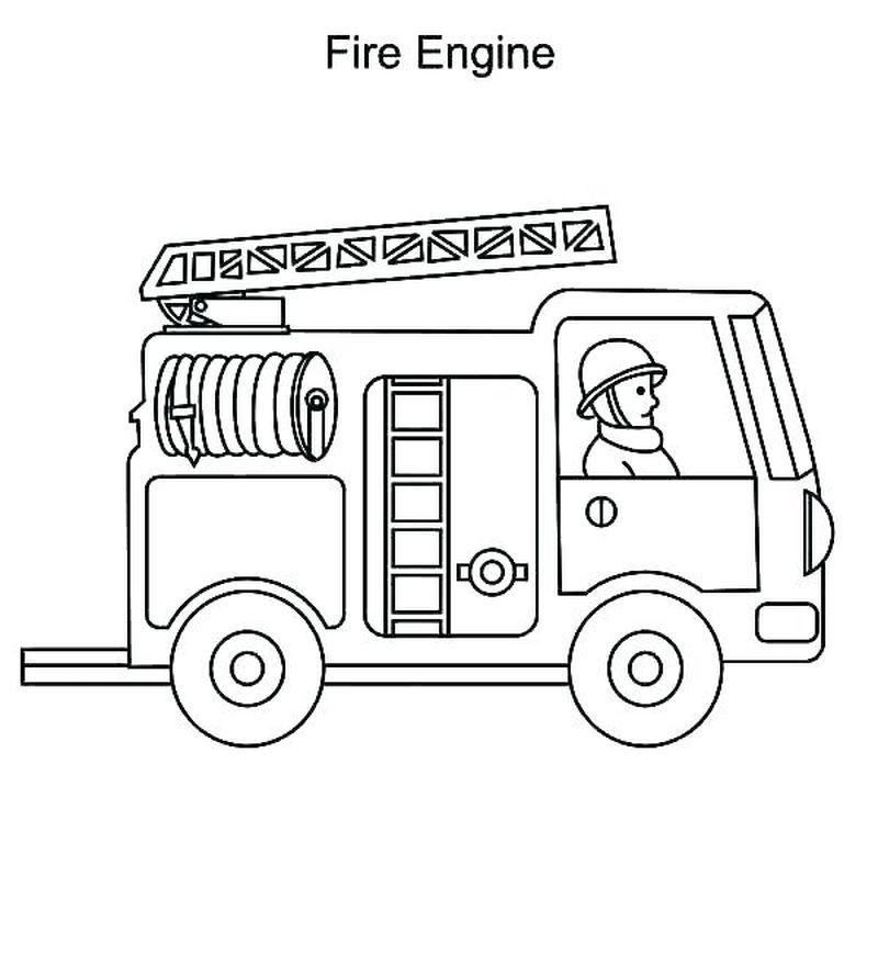 Childrens Fire Truck Coloring Pages Gambar Belajar Menggambar Belajar