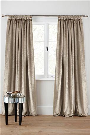 Buy Plush Velvet Pencil Pleat Curtains From The Next Uk Online Shop Curtains Velvet Curtains Living Room Velvet Curtains