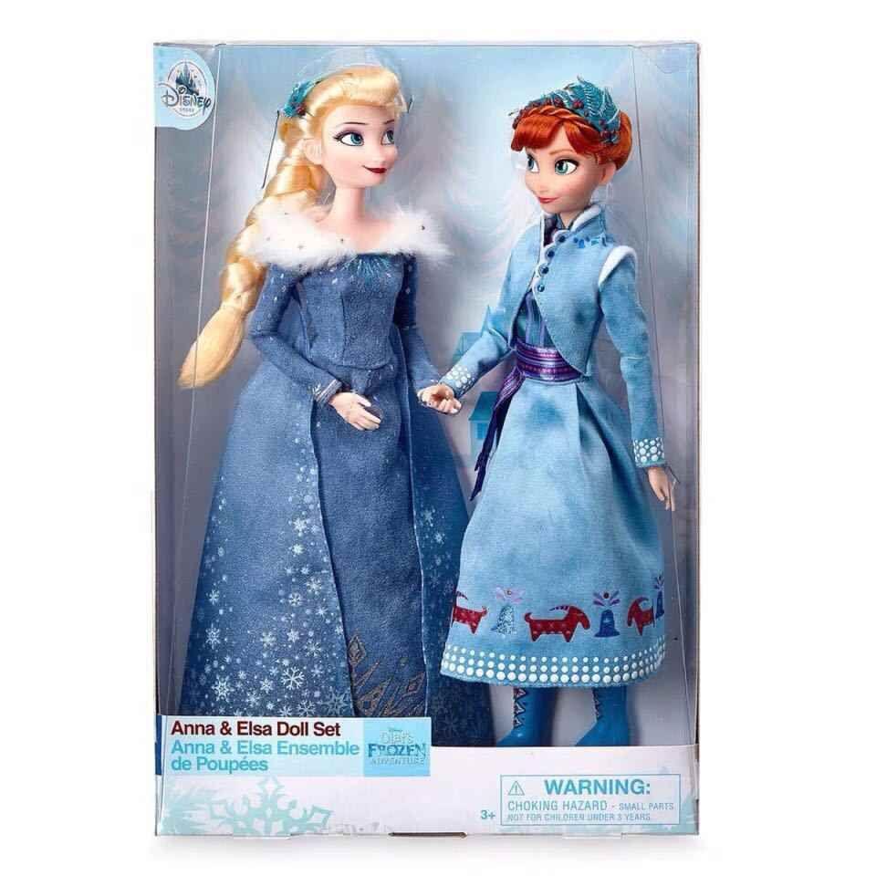 Disney Muñeca Original De 33cm Elsa Anna Frozen Reina De La Nieve Juguetes Para Niñas Regalo De Cumpleaños Y Navidad Figuras De Juguete Y Acción Alie Muñecas De Frozen Juguetes Para