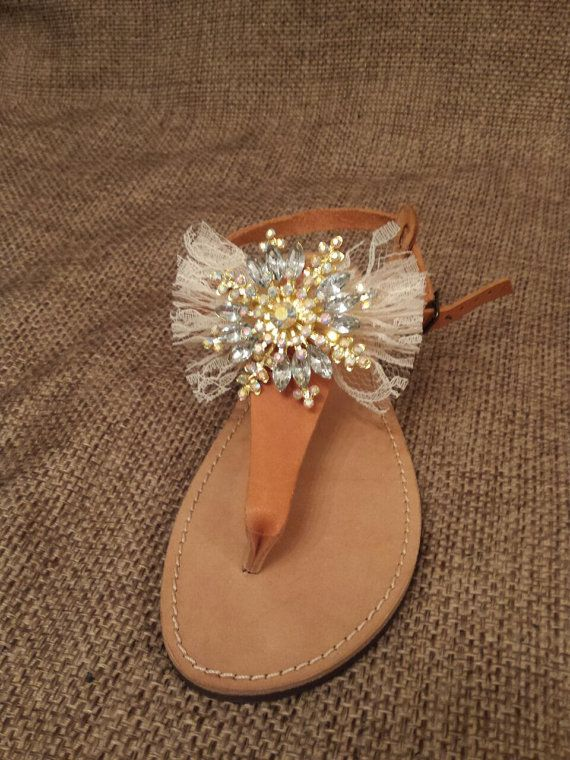 Handmade Leather flip flops by YiotaD on Etsy