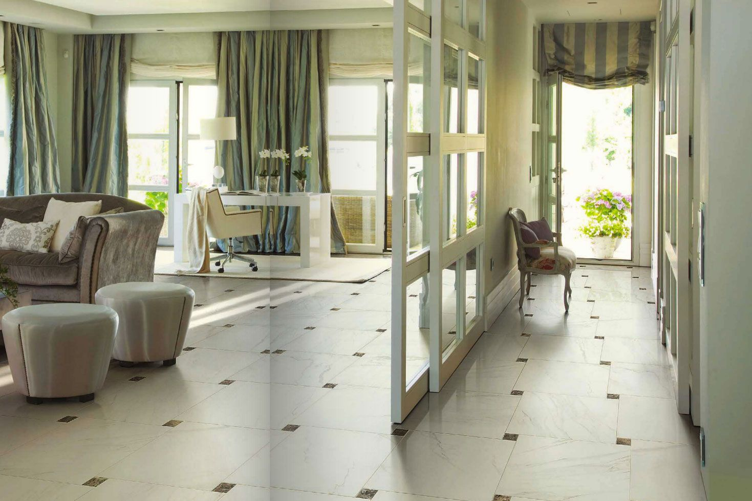 Vintage By Fine In Calacatta Available In 14x14 Matte Floor Tile 10x22 Polished Wall Tile 2x2 Matte Mosaic And 3x10 Style Tile Porcelain Flooring Flooring