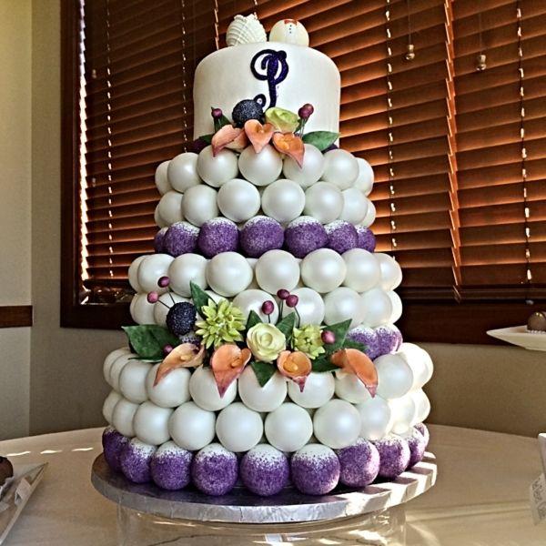Fall Cake Ball Wedding