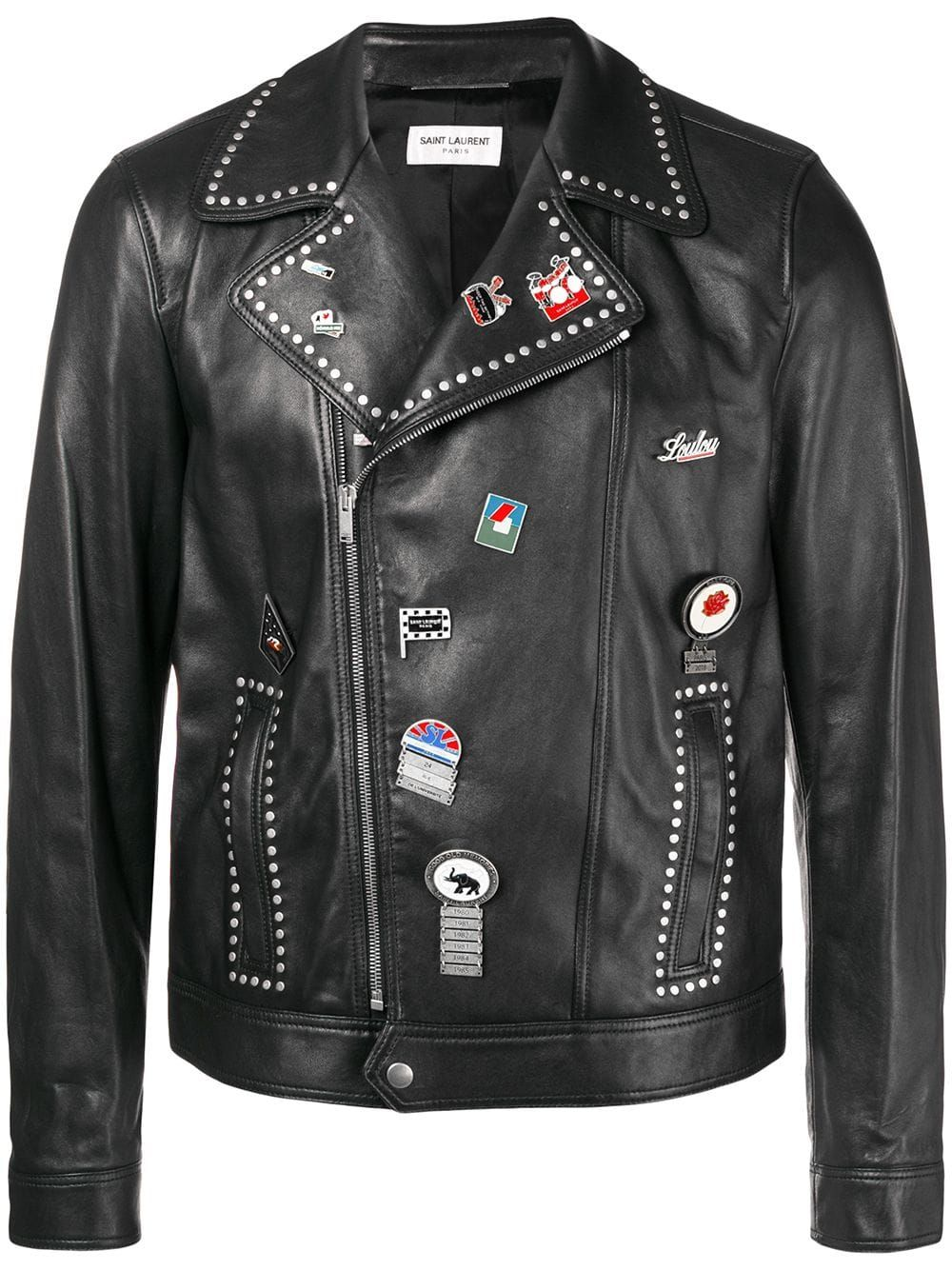 0a0f52d012a Saint Laurent Motorcycle Leather Jacket in 2019   Products   Leather ...
