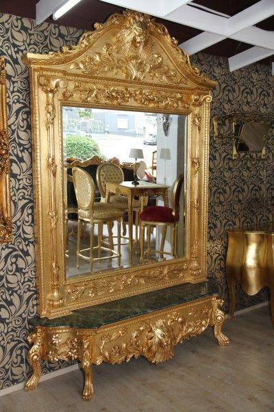 casa padrino luxus barock spiegelkonsole gold lion luxus wohnzimmer m bel konsole mit spiegel. Black Bedroom Furniture Sets. Home Design Ideas