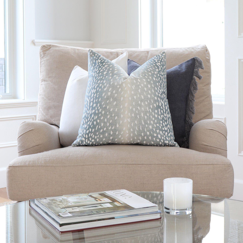 Antelope Aqua Pillow Cover in 2020 Designer throw