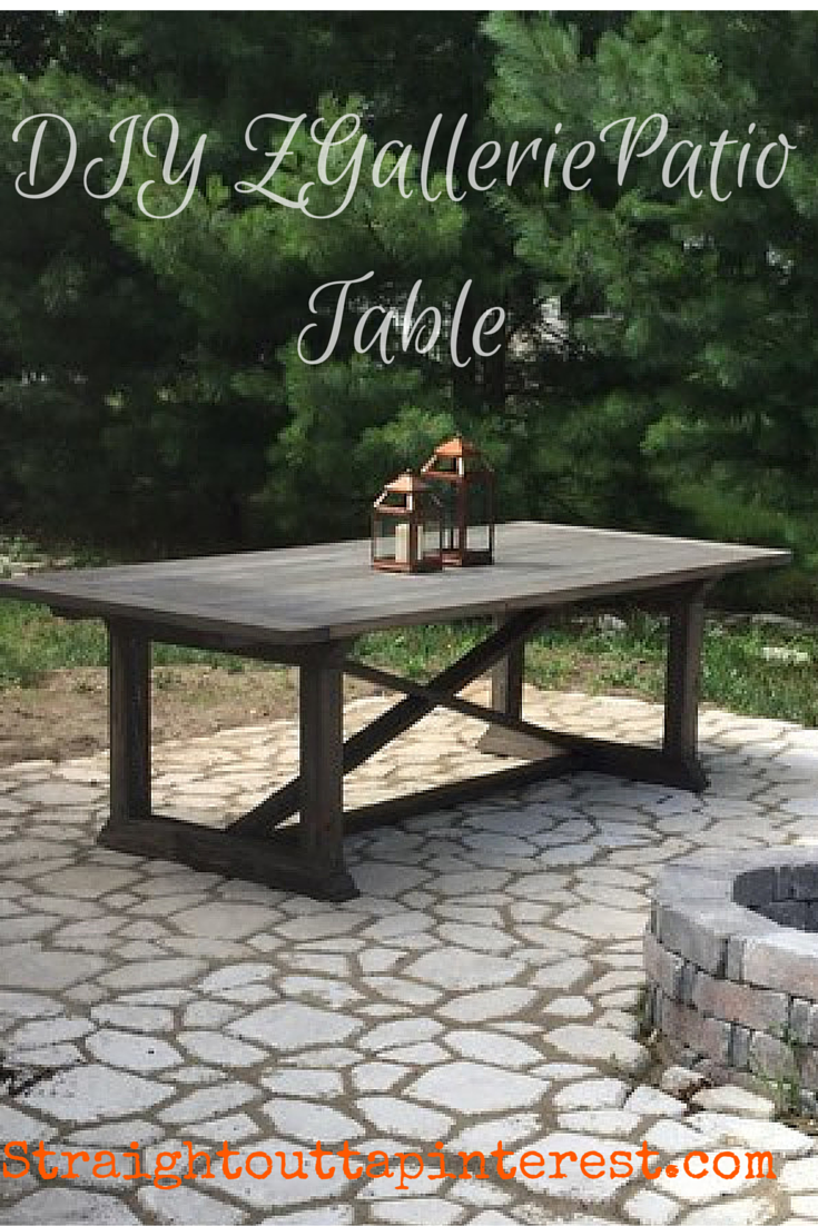 High Quality Build An Easy But Elegant ZGallerie Rencourt Patio Table.