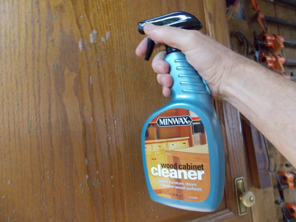 Messy Mold and Mildew Minwax Blog Mold remover on wood