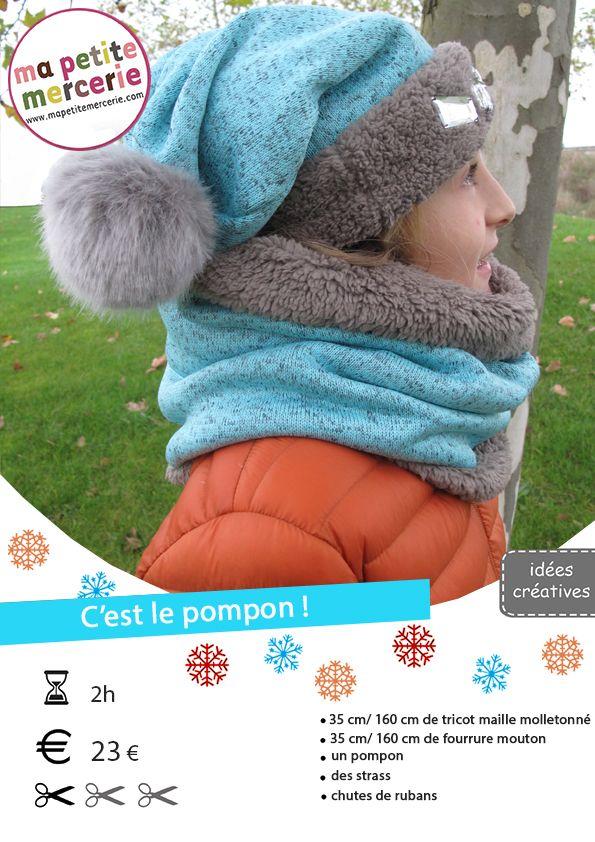 DIY bonnet et snood sans tricot. DIY bonnet et snood sans tricot Tuto  Couture Bonnet Bébé ... 09ba20e2d51