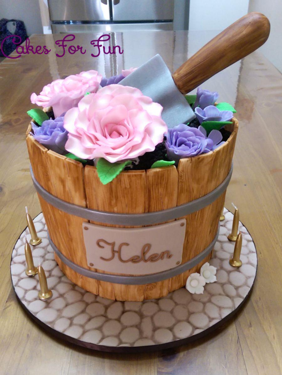 Flower Bucket Beer Cake Garden Cakes Cake