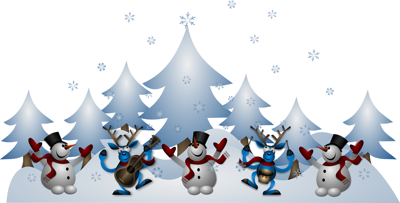Free Image On Pixabay Snowmen Reindeer Christmas Noel Holiday Card Diy Postcard Christmas Cards Merry Christmas Card