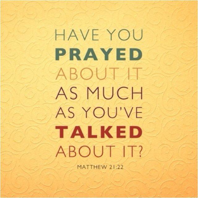 Praying trumps griping!