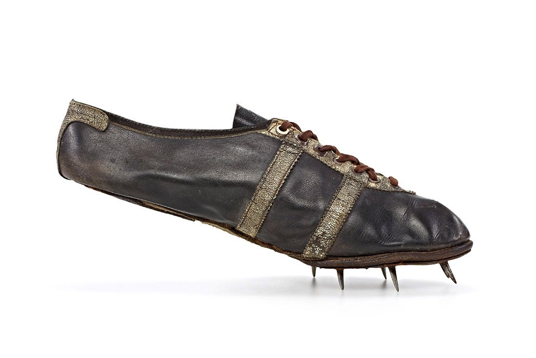 Jesse Owens' track spike, made by Adi
