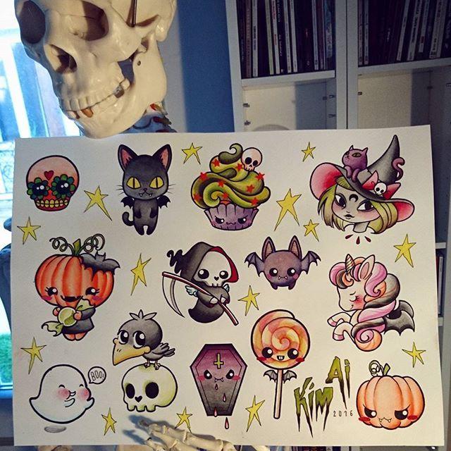 Love These Lil Halloween Tattoo Art Cute Halloween Tattoos Spooky Tattoos Halloween Tattoos