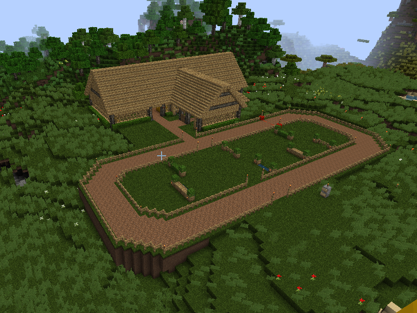 Neat horse track and barn by B3EAUTIFULP0ISON | Minecraft ...