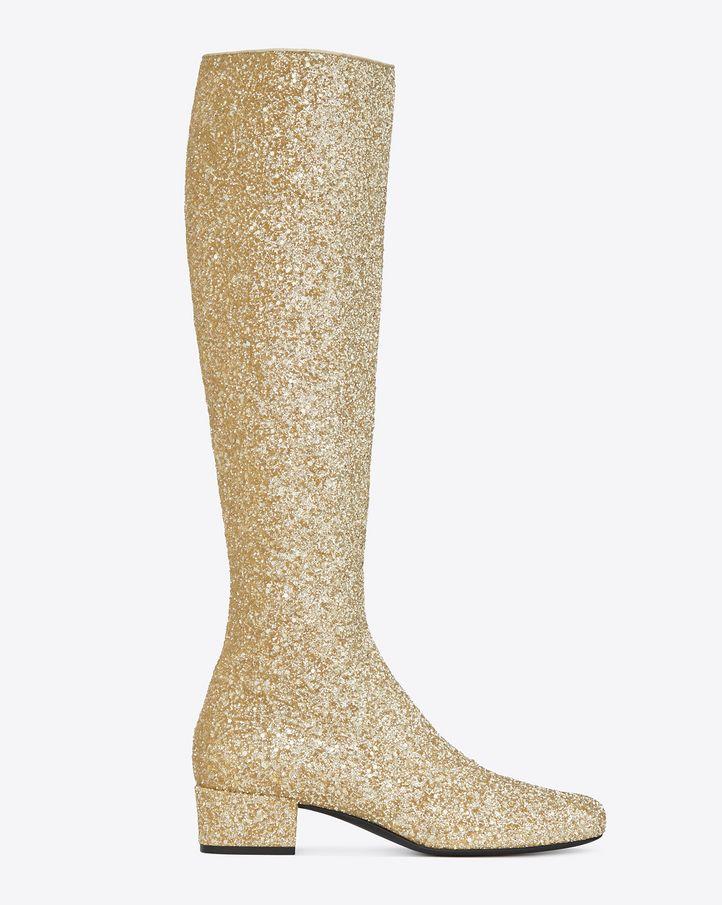 glitter boots - Metallic Saint Laurent pH6vihNZHr