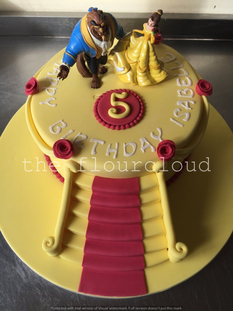 Beauty And The Beast Birthday Cake Mit Bildern Motivtorten Motivtorte Die Schone Und Das Biest