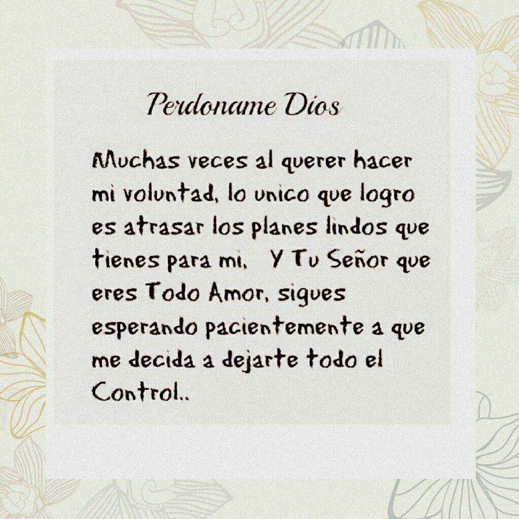 PERDONAME DIOS