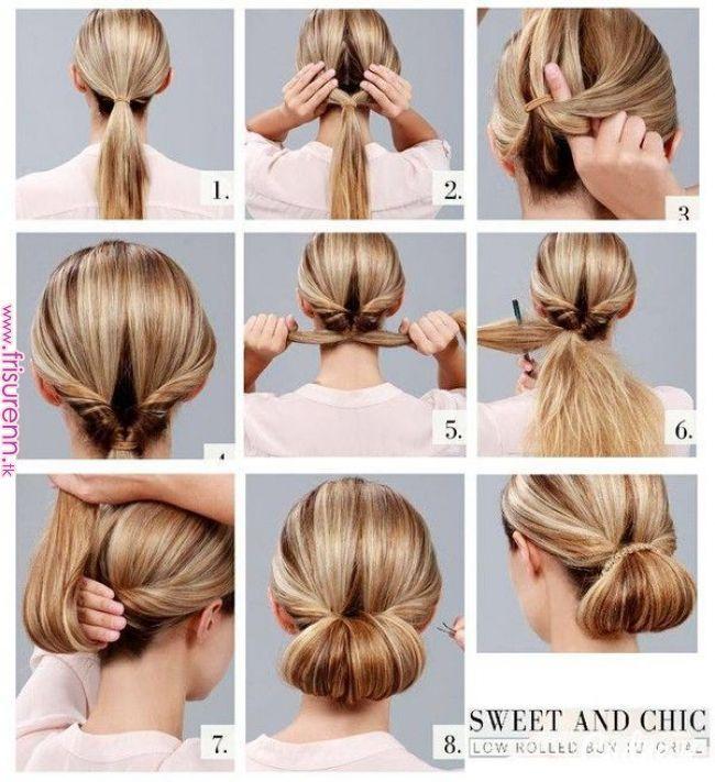 Szyk I Elegancja Hair In 2019 Pinterest Hair Styles Hair And Bun Tutorials Szyk I Elegancja Hair In Hair Bun Tutorial Hair Arrange Hair Braid Videos