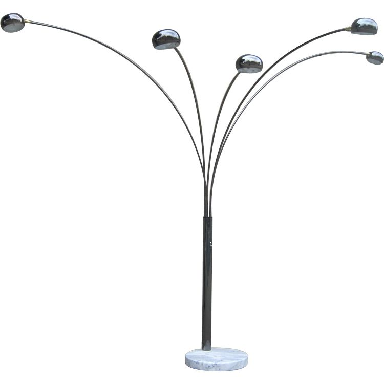 5 Arm Arc Floor Lamp From A Unique Collection Of Antique And