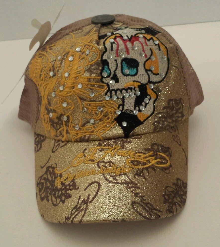 Vintage Hat Tattoos: Ed Hardy Hat Christian Audigier New York City Gold Vintage