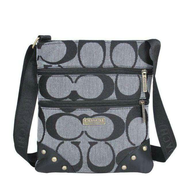 Coach Stud In Signature Small Grey Crossbody Bags DPZ [Coach0A1097] - $68.00 :