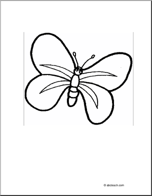 coloring page cartoon butterfly 2 color this picture of a cartoon butterfly - Butterflies To Color 2