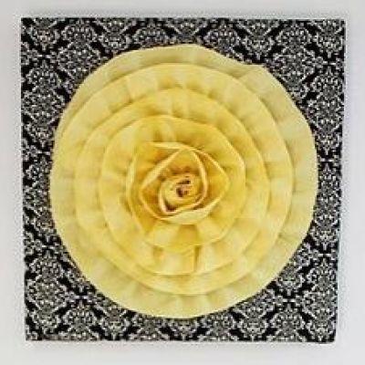 Fabric flower wall hanging   Craft Ideas   Pinterest   Flower wall ...