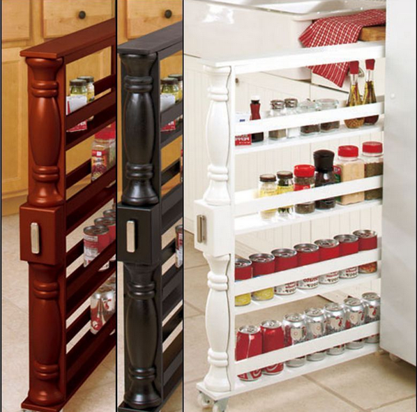 Slim Spice & Can Storage Rack (With images) Spice rack