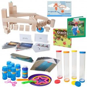STEM kit for preschool, teaches students about gravity, force, motions, and other aspects of STEM. Sold at hatchstore.com