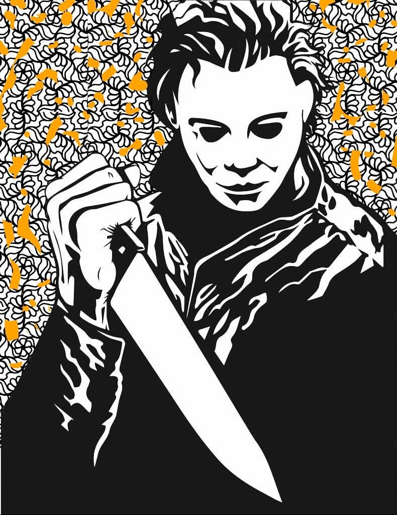 Pin By Queenwie Queenwie On Michael Myers Halloween Halloween Coloring Pages Michael Myers Halloween Scary Halloween Coloring Pages