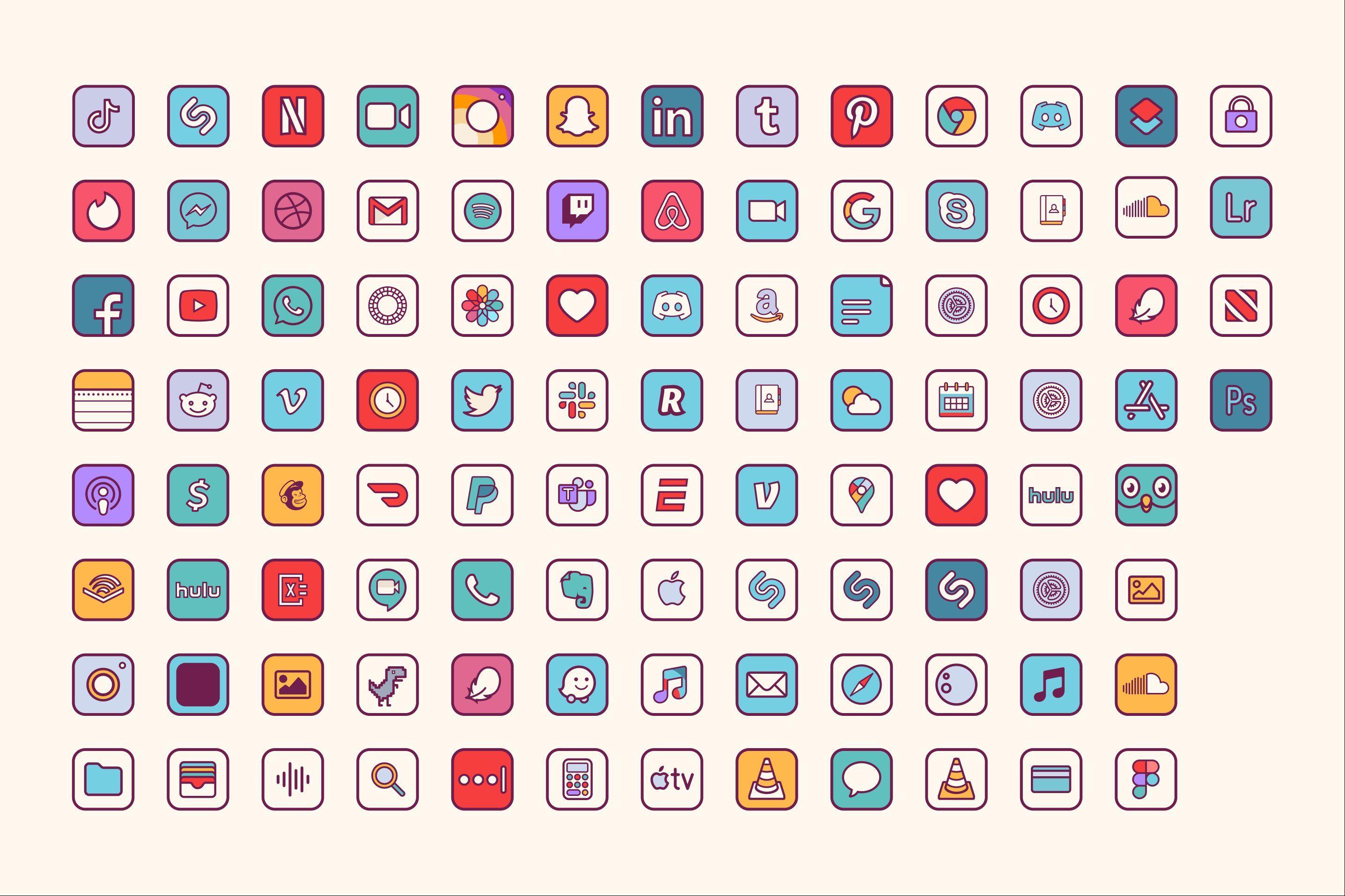 iOS 14 Retro Home Screen Icons