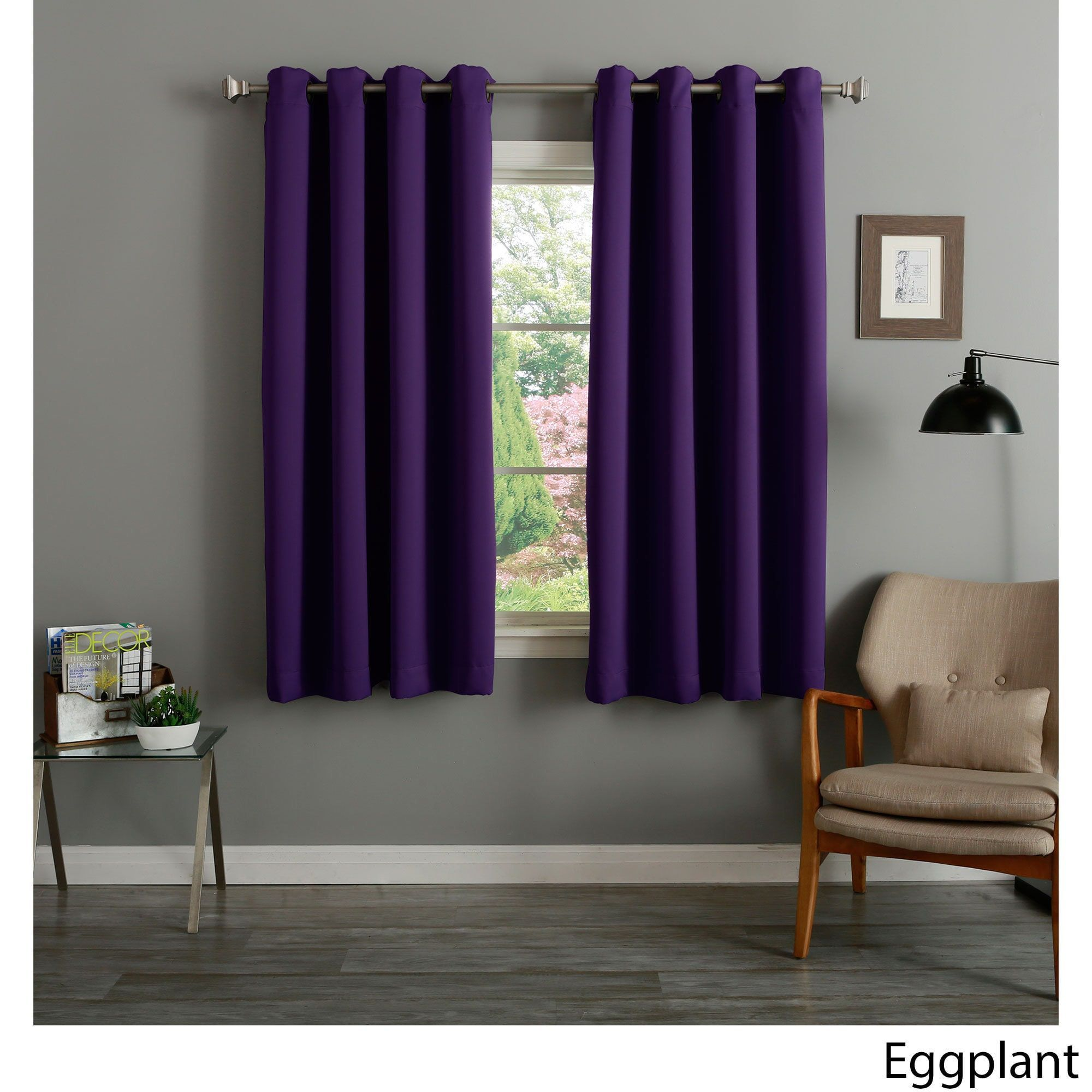 curtains drapes modern blackout purple brief pin free fashion lining flower shipping quality or with curtain sheer