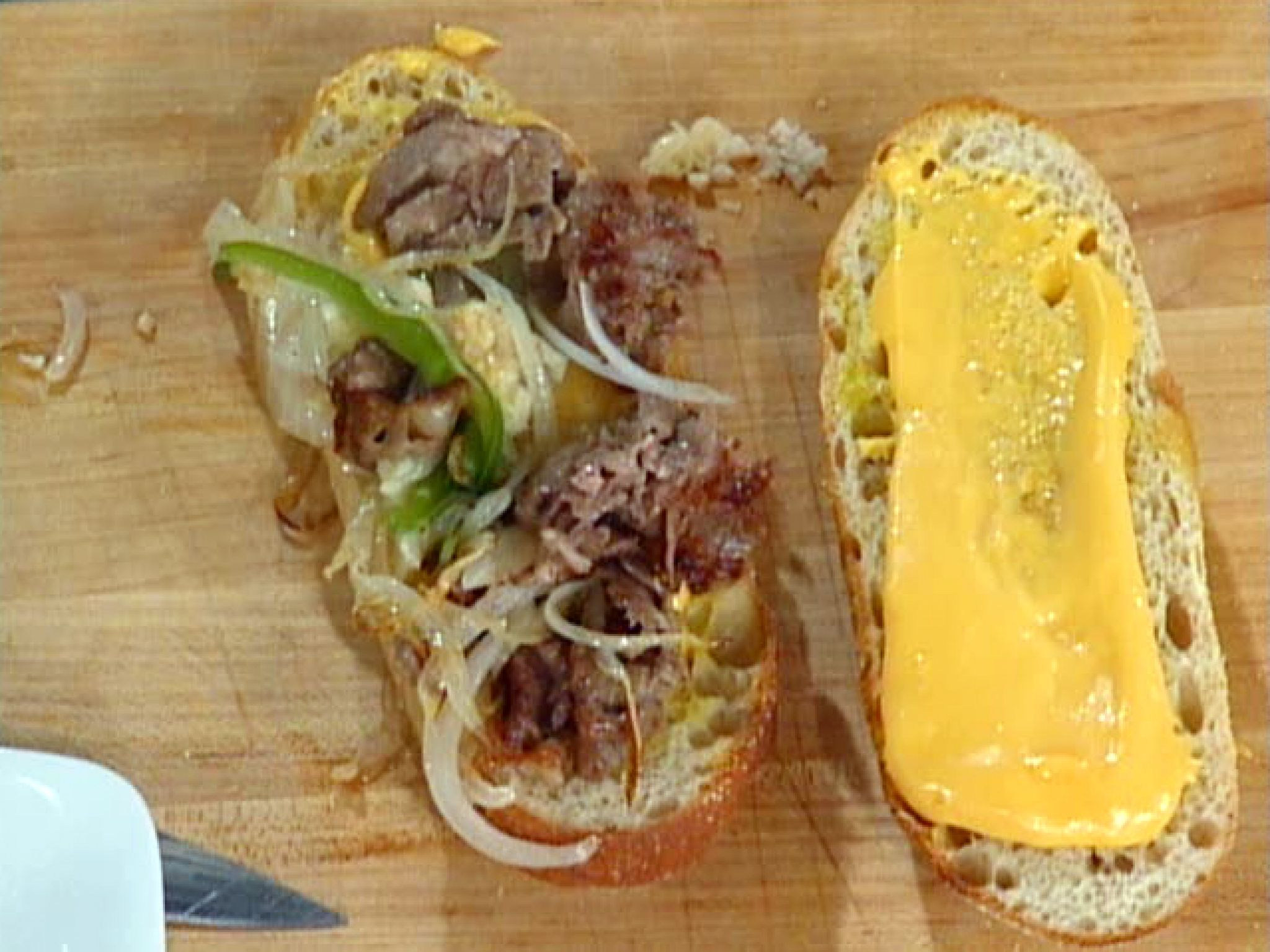 Get this all star easy to follow philly cheese steak sandwich philly cheese steak sandwich recipe from emeril lagasse via food network forumfinder Image collections
