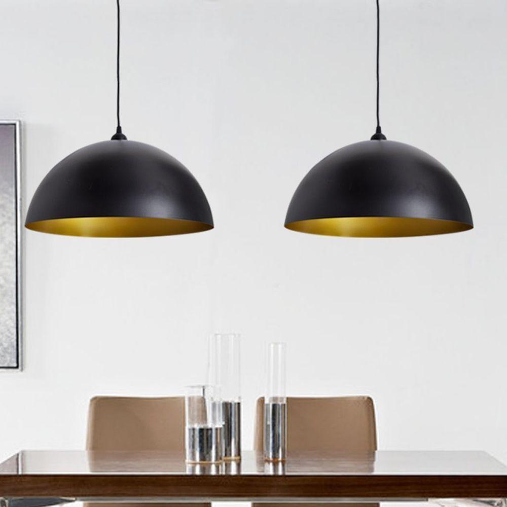 Ceiling lamp shade industrial light shades pendant hanging metal ceiling lamp shade industrial light shades pendant hanging metal black gold 2pc aloadofball Choice Image