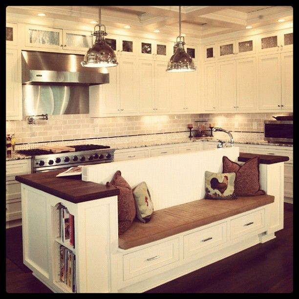 Great Room Kitchen With Large Island: Bench With The Island! Great For Small Get Together! Would