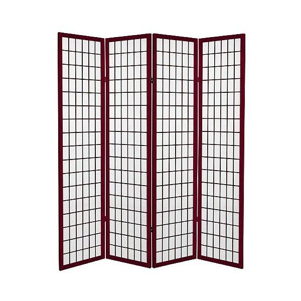 Screen ft Canvas Window Pane Room Divider - Rosewood ($150