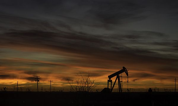 'Pump Jack At Dawn' - photograph by Kate Bazin #pumpjack #oilrig #dawn