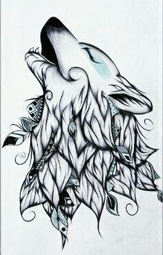 Delicate Tribal Wolftattooideas Dessins Tribaux Loup Dessin