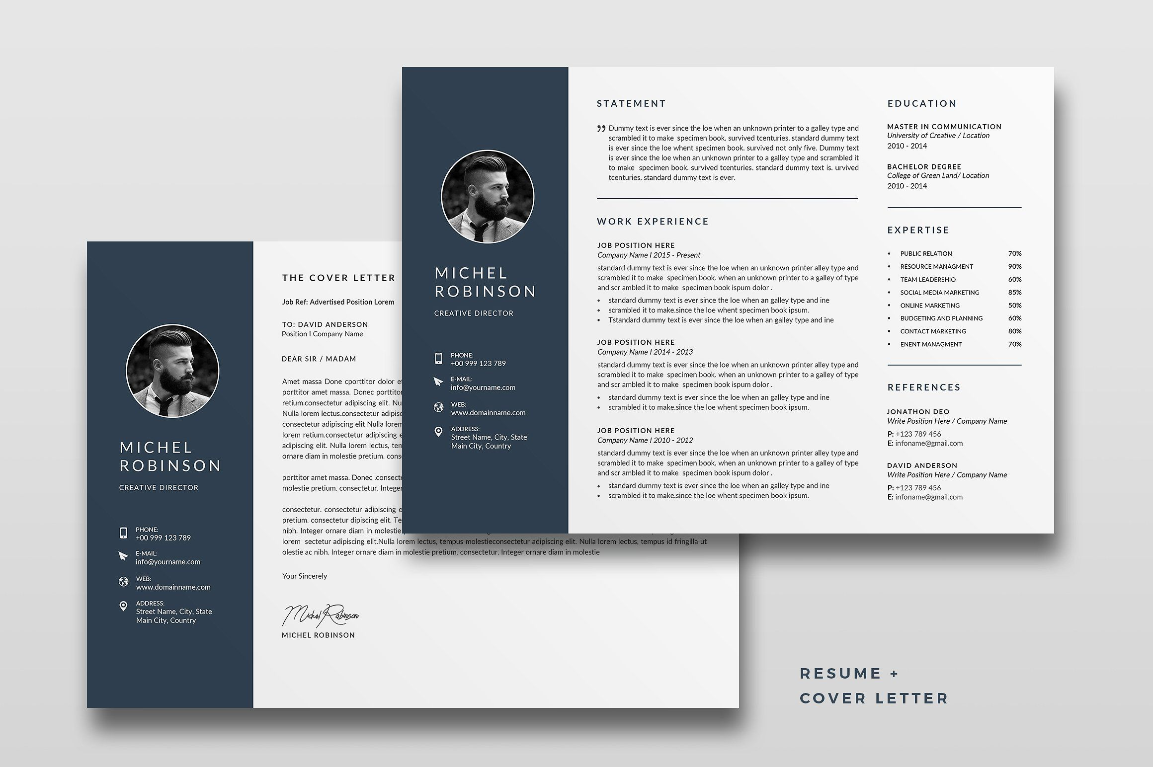 Landscape Resume Cv Template Cv Template Unique Resume Template