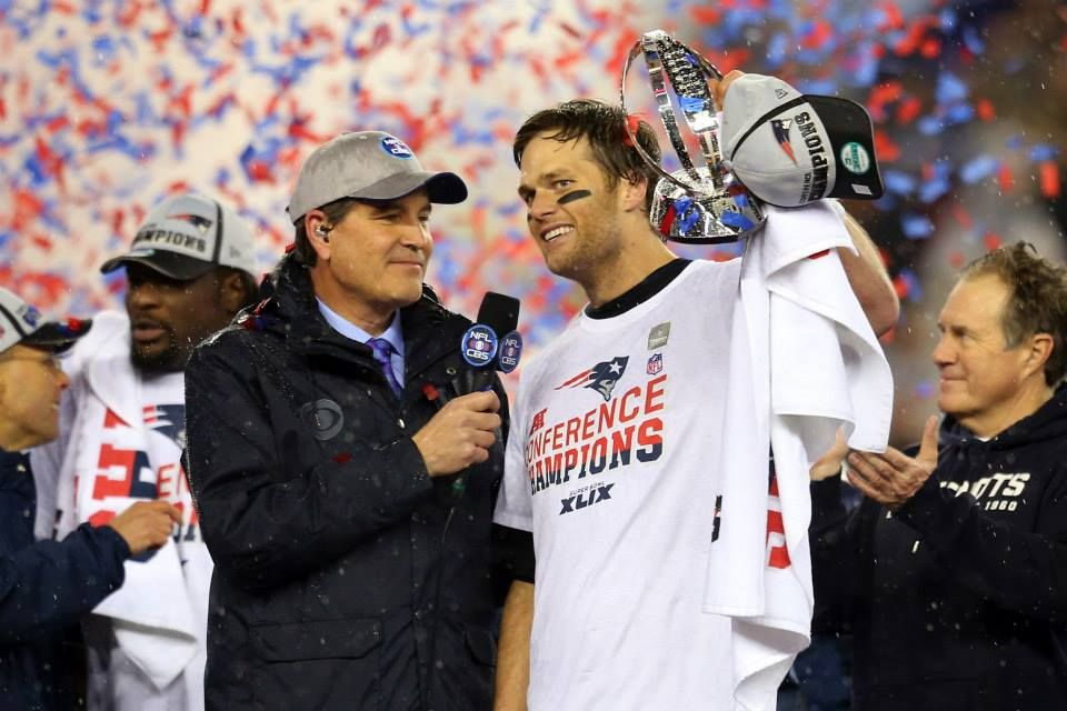 AFC Champs. Tom Brady's six Super Bowl appearances are more than any QB in NFL history. (Getty Images) 1/18/15