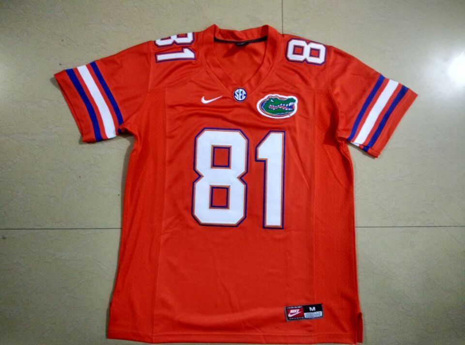 57d3e6fa69a Custom Men s NCAA Nike Florida Gators  81 AARON HERNANDEZ College football  Jersey BLUE WHITE Stitching Jerseys free shipping