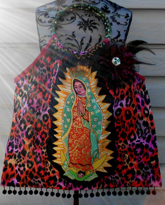 Extra Large Virgen de Guadalupe Handle Tote by StinkyMonkey4eva, $38.99